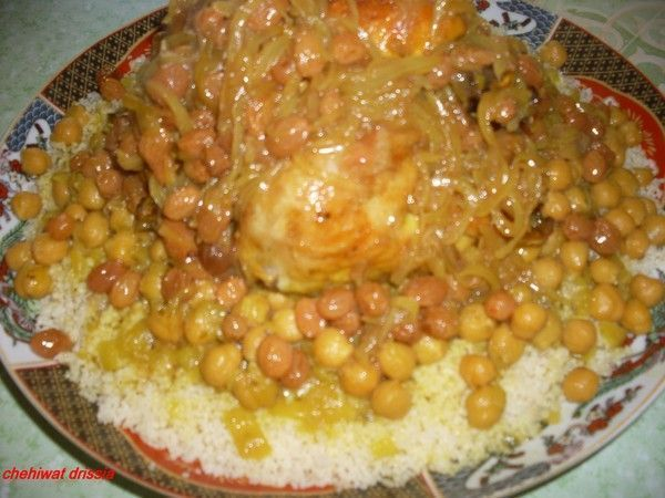 couscous aux poulet et tfaya