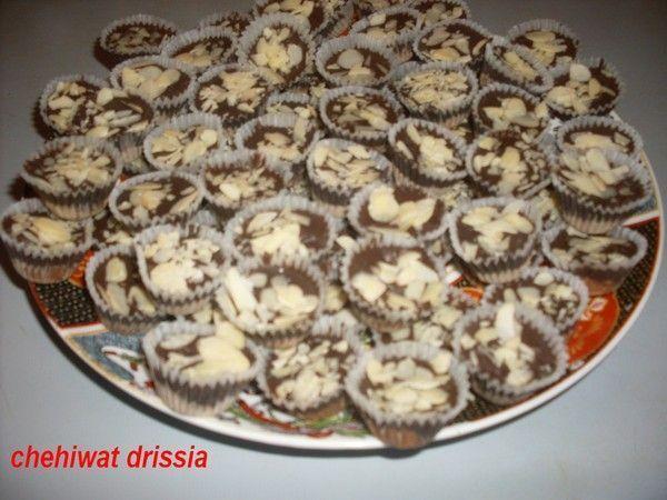 caissettes aux cacahuètes et chocolat noir